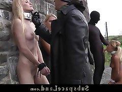 BDSM, Blondine, Knechtschaft, Tracht Prügel