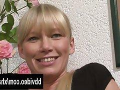 Blondine, Deutsch, Selbstbefriedigung, MILF
