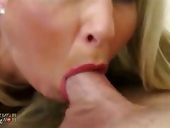 Blonde, Blowjob, Facial, MILF