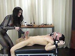 BDSM, Knechtschaft, Angespritzt, Femdom