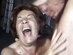 Cumshot, German, Granny, Hairy